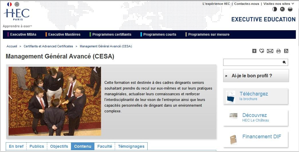 HEC Paris CESA Management Général Avancé (MGA)