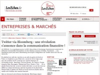 Twitter via Bloomberg : une révolution s'annonce dans la communication financière !