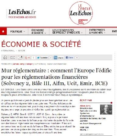 Mur réglementaire : comment l'Europe l'édifie pour les réglementations financières (Solvency 2, Bâle III, Aifm, Ucit, Emir, BCE)