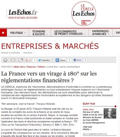 La France vers un virage à 180° sur les réglementations financières ?