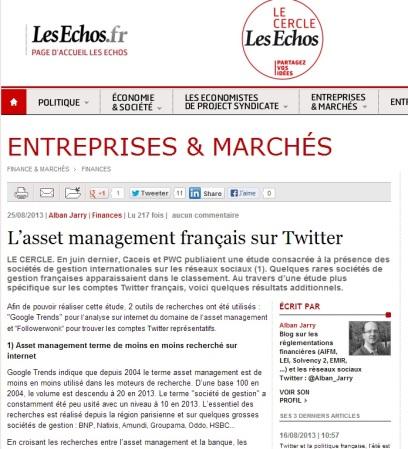L'asset management français sur Twitter