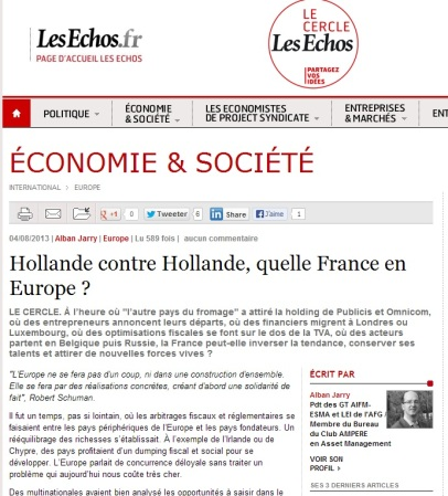 Hollande contre Hollande, quelle France en Europe ?