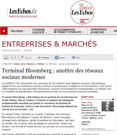 Terminal Bloomberg : ancêtre des réseaux sociaux modernes
