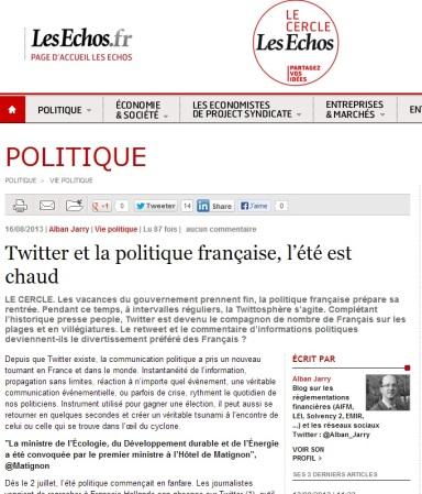 Twitter et la politique française, l'été est chaud