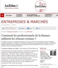 Comment les professionnels de la finance utilisent les réseaux sociaux ?
