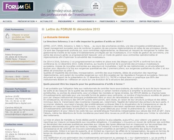 La Directive Solvency 2 va-t-elle impacter la gestion d'actifs en 2014 ?