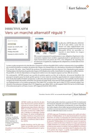 AIFMD, vers un marché alternatif régulé