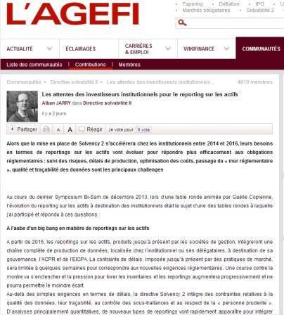 Les attentes des investisseurs institutionnels pour le reporting sur les actifs - par Alban Jarry