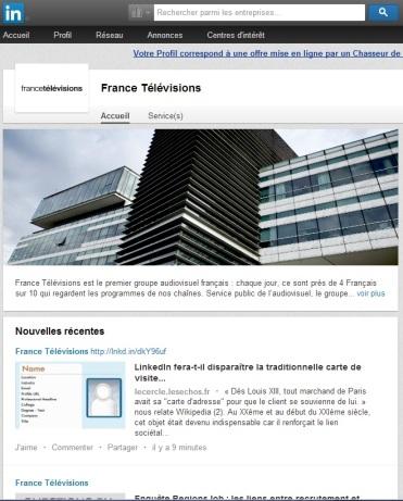 Billet France Television Publication De Larticle LinkedIn Fera T Il Disparatre La Traditionnelle Carte Visite Cartonne Citation
