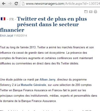 Twitter est de plus en plus présent dans le secteur financier (newsmanager)