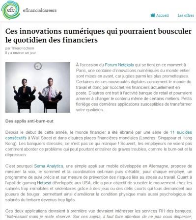 Ces innovations numériques qui pourraient bousculer le quotidien des financiers (par @MisterFinance pour efinancialcareers)