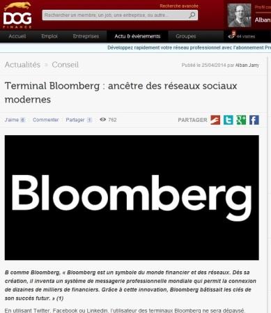 Terminal Bloomberg : ancêtre des réseaux sociaux modernes - par alban jarry - dog finance