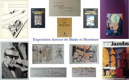 exposition blake et mortimer par alban jarry - jacobs juillard ted benoit espadon mystere pyramide