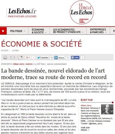 La Bande Dessinée, nouvel eldorado de l'art moderne, trace sa route de record en record par alban jarry