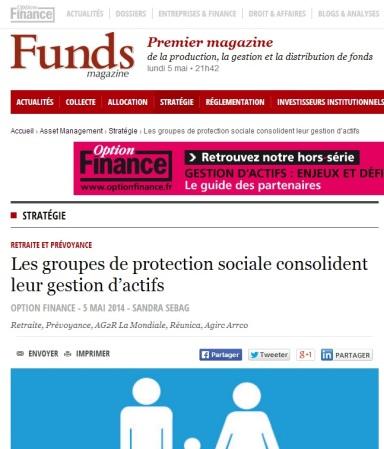Les groupes de protection sociale consolident leur gestion d'actifs par Sandra Sebage @Option_Finance (@monterorachel)
