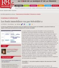 Les fonds immobiliers vus par Solvabilité 2 et AIFM (par Laetitia de Pellegars et @RevueBanque)