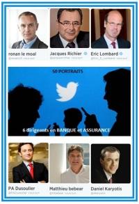 Twitter 6 dirigeants banque assurance