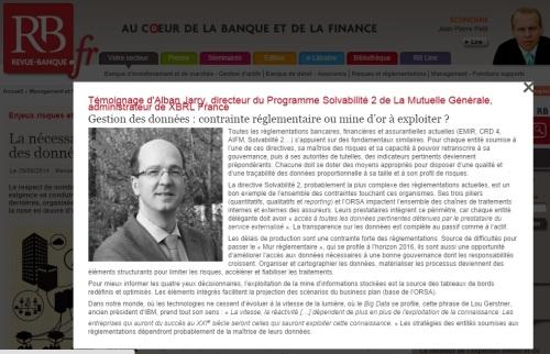 Gestion des données : contrainte réglementaire ou mine d'or à exploiter ? (pour @RevueBanque)