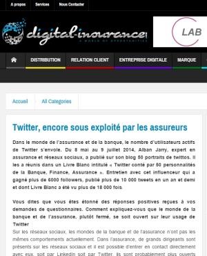 ITW pour @DigiInsurance : Twitter, encore sous exploité par les assureurs (par @LaureKepes)
